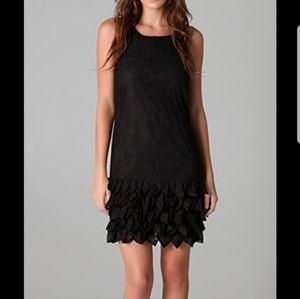 Alice+Olivia Randi Ruffle Silk Lace Dress